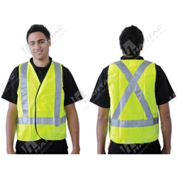 ProChoice Fluoro Yellow X Back Day/Night Use Safety Vest