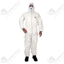 Frontier FME38 White Shield SMS Type 5/6 Coveralls