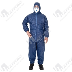 Frontier PP1A Blue Polypropylene Disposable Coveralls