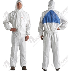 3M™ 4540+ with Blue Breathable Back Panel Coverall White+Blue Type 5/6