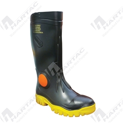 Maxisafe Foreman Black Gumboots with Safety Toecap