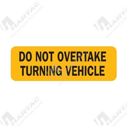 """Do Not Overtake Turning Vehicle"" Identification"