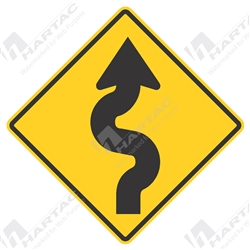 Warning signs hartac australia traffic sign warning winding road right aluminium reflective class 1 publicscrutiny Images