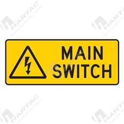 "Warning Sign ""Main Switch"""
