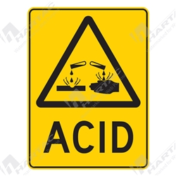 "Warning Sign ""Acid"""