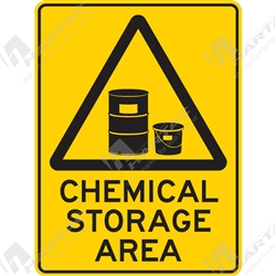"Warning Sign ""Chemical Storage Area"""