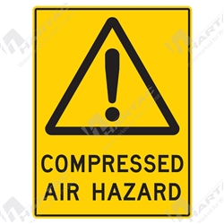 "Warning Sign ""Compressed Air Hazard"""