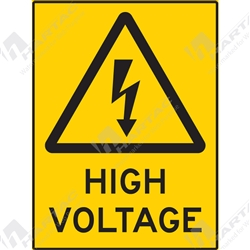 "Warning Sign ""High Voltage"""