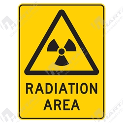 "Warning Sign ""Radiation Area"""