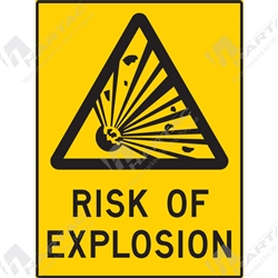 "Warning Sign ""Risk Of Explosion"""