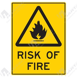 "Warning Sign ""Risk Of Fire"""