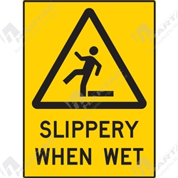 "Warning Sign ""Slippery When Wet"""