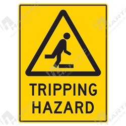 "Warning Sign ""Tripping Hazard"""