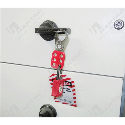 Vinyl Coated Hasp with 25mm Diameter Jaws - Red