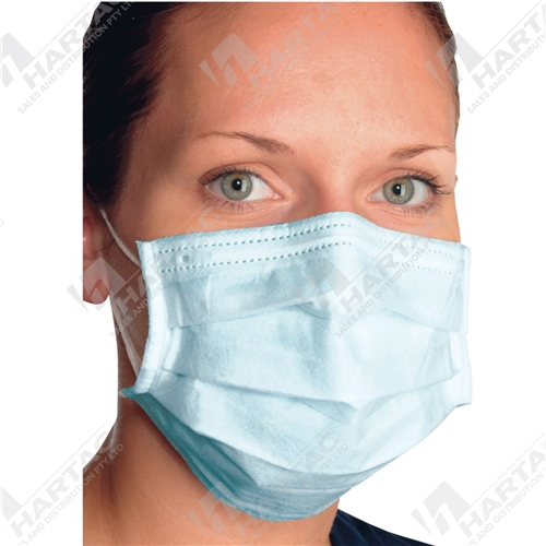 3-Ply Surgical Face Mask with Ear Loop Blue