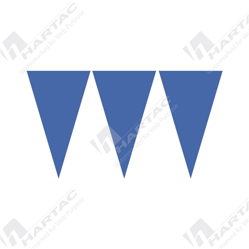 30m Roll Bunting Flags - Blue