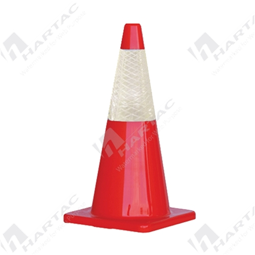700mm Orange Traffic Cone with White Reflective Sleeve