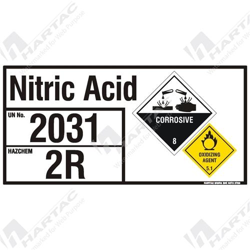 Hs6877 Hazchem Eip Nitric Acid Metal Non Reflective Un2031