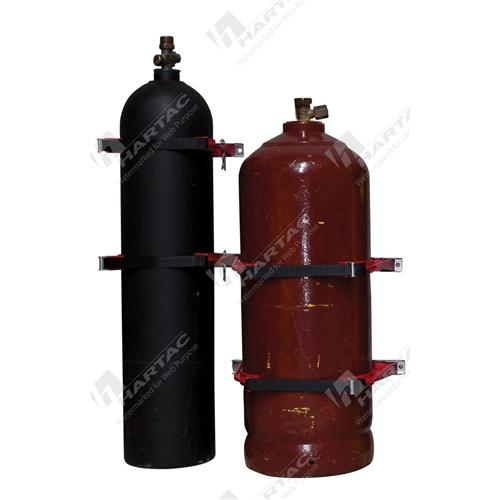 HSBGOXYACET - Galvanised Red Bottlechock Fits 1 E/G Size