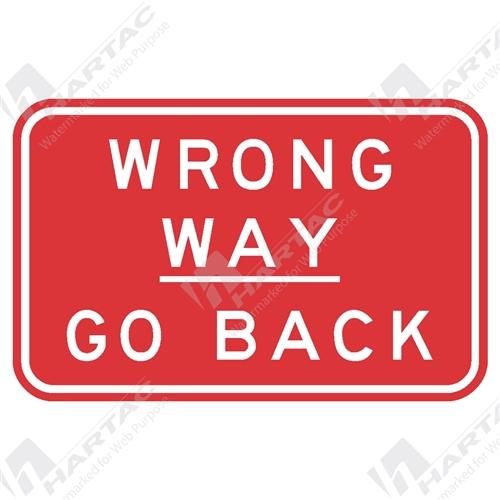 regulatory signs wrong way go back aluminium reflective class 1