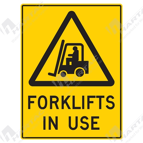 Fork Lift Labels : Warning signs stickers sign forklifts in use