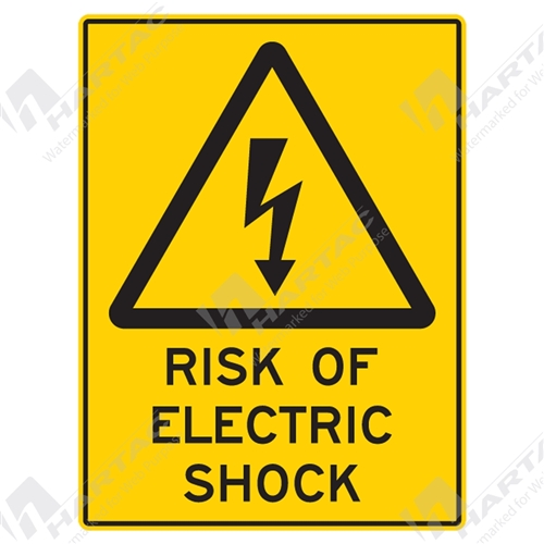 "Warning Sign ""Risk Of Electric Shock"""