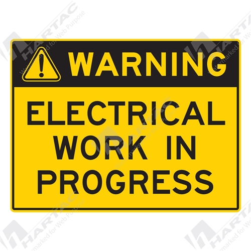 Warning Signs Stickers Warning Sign Electrical Work In Progress