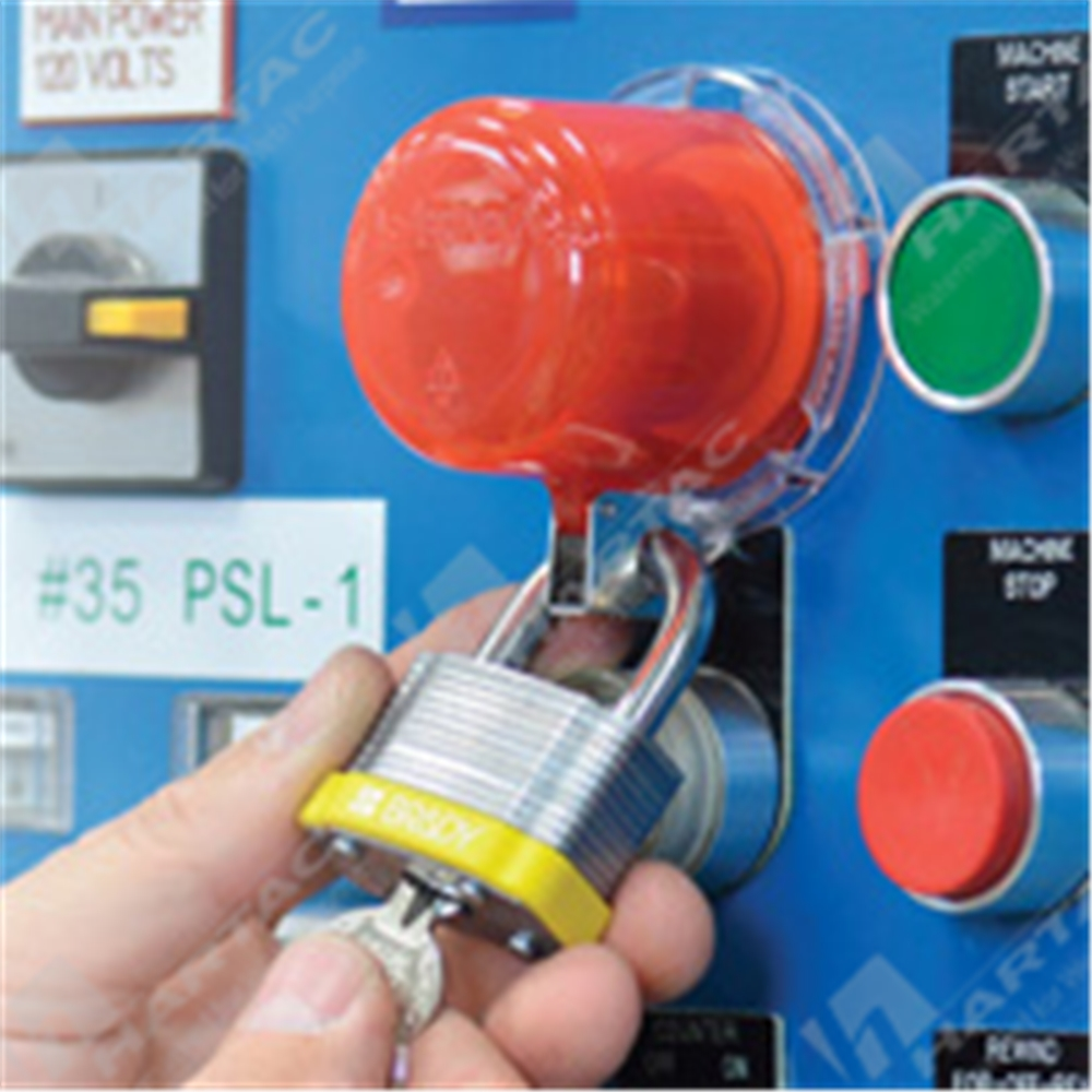 Electrical Lockouts Hartac Australia Push Button Fuse Box Twist Secure E Stop Safety Covers Bases