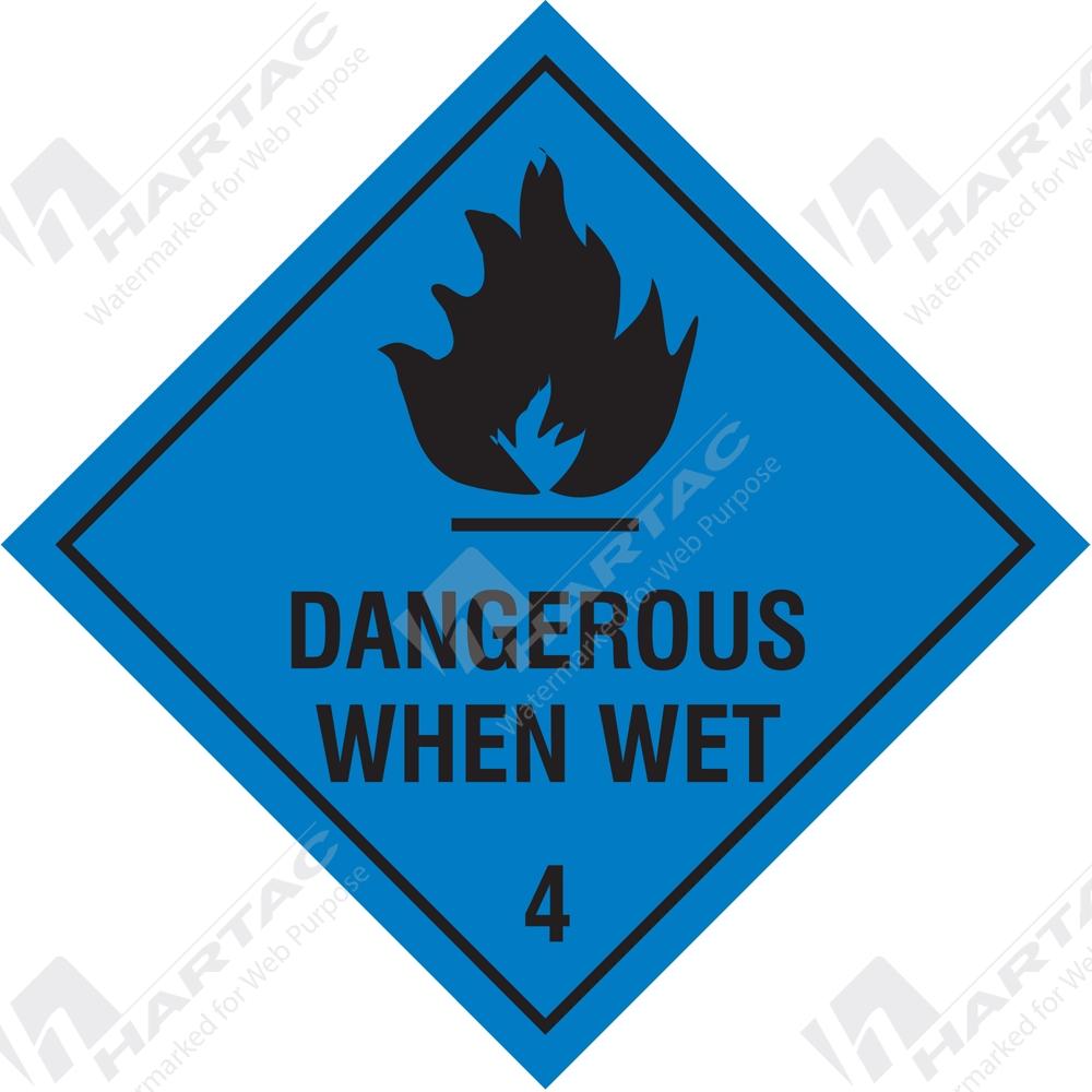 Hazardous Goods Labels Placards Hazchem Sign Hgl Dangerous
