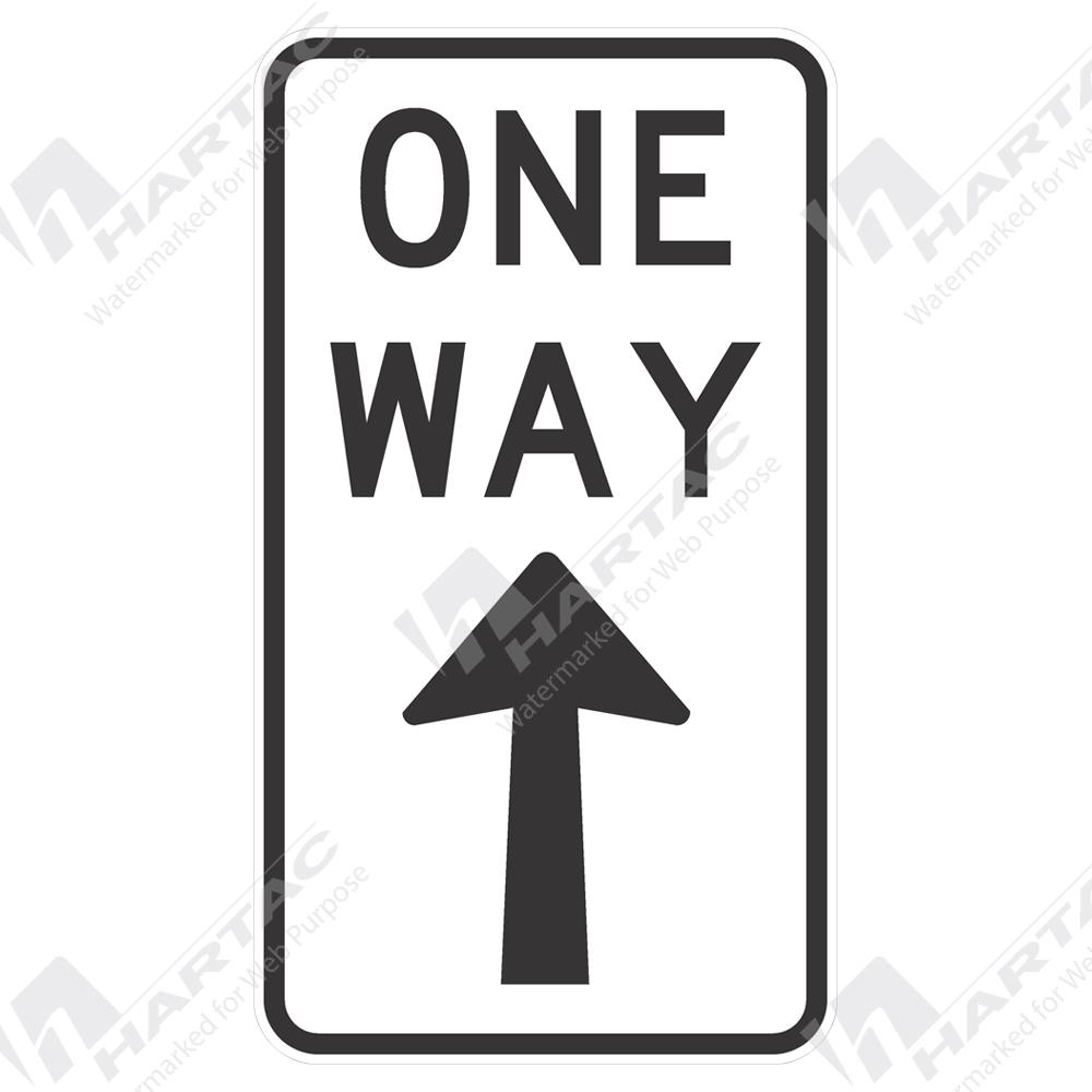 Regulatory Signs One Way W Up Arrow Aluminium Reflective Class 1